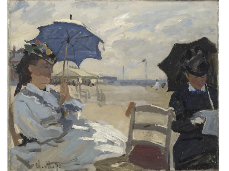 'The Beach at Trouville' - Claude Monet
