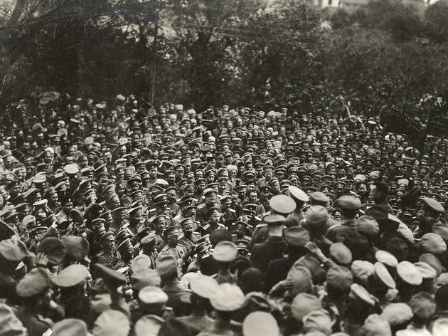 (Minister of War Aleksandr Kerensky Addressing the Troops, 1917 )