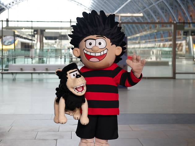 Beano Town, St pancras international, Dennis the Menace