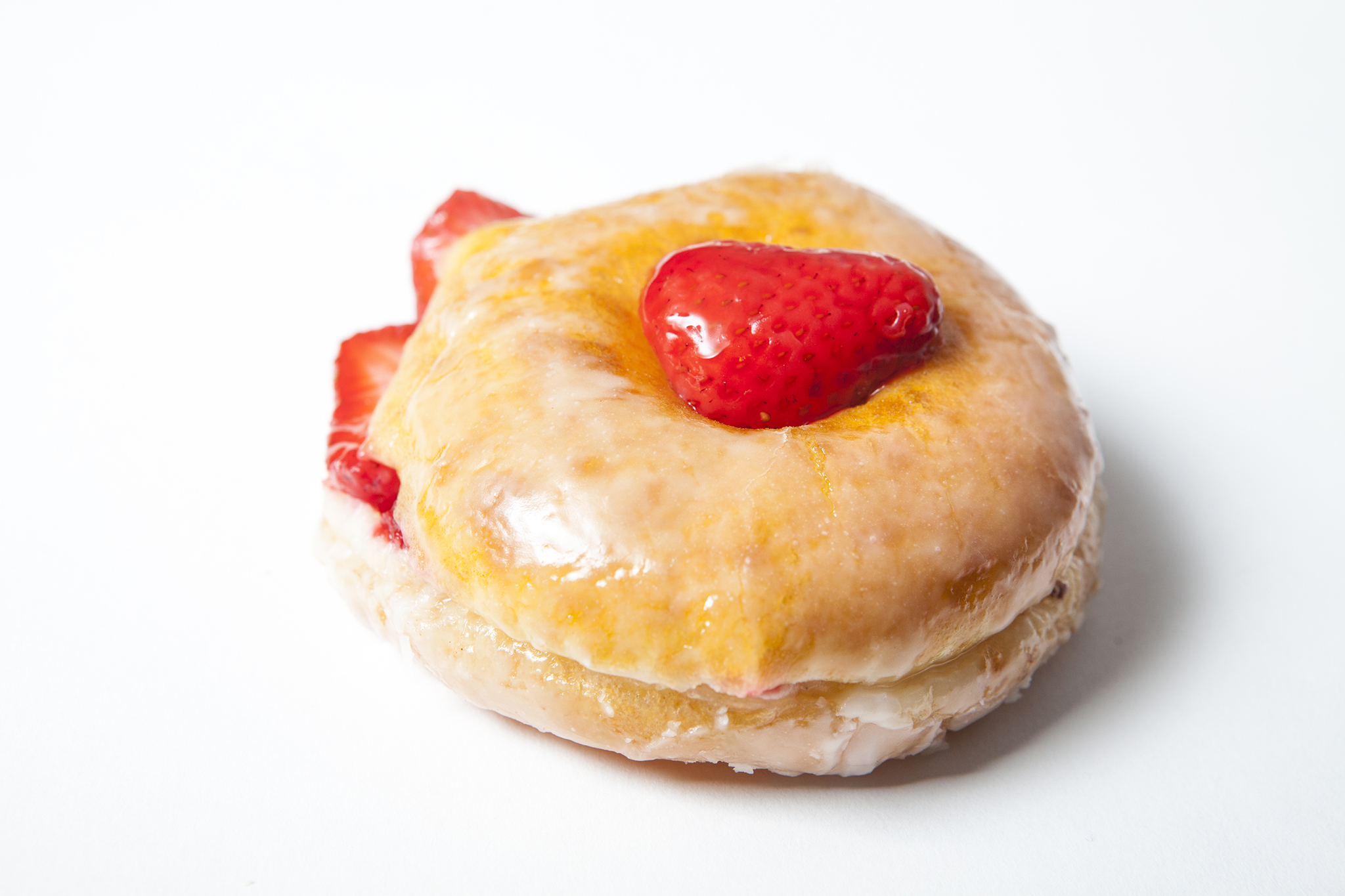 The best donuts in LA: Strawberry-filled donut from SK Donuts & Croissants