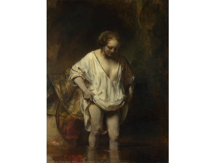 'A Woman Bathing in a Stream' - Rembrandt van Rijn