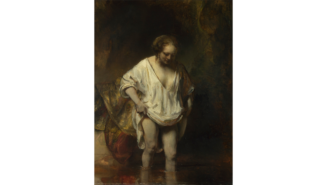 'A Woman Bathing in a Stream' - Rembrandt van Rijn