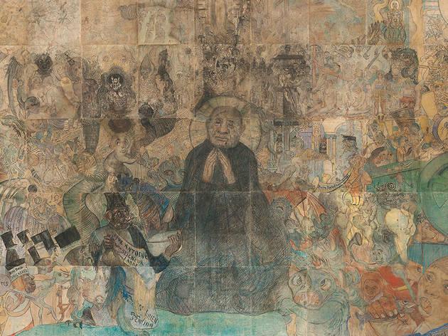 "James Ensor. ""The Temptation of Saint Anthony"", 1887."
