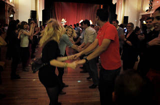 Scottish country dancing at the Camden Club St Andrews Day ceili