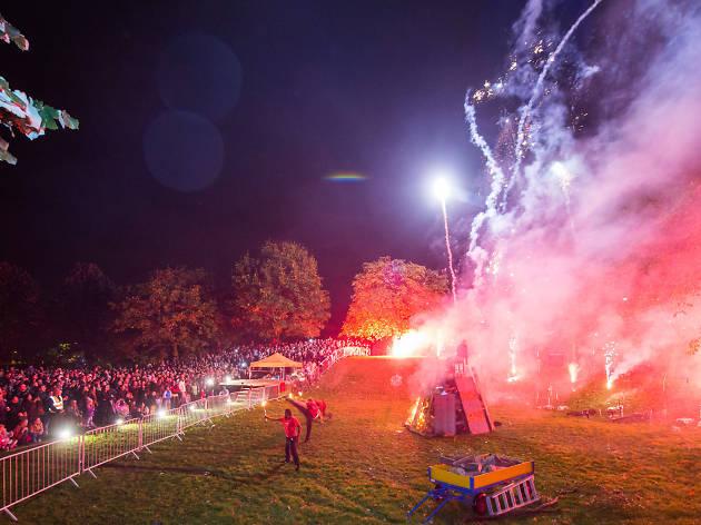 Vauxhall Pleasure Gardens Fire Festival, bonfire