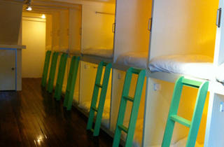 Matchbox3.jpg (Bunks in the mixed dorm, including two couples bunks)