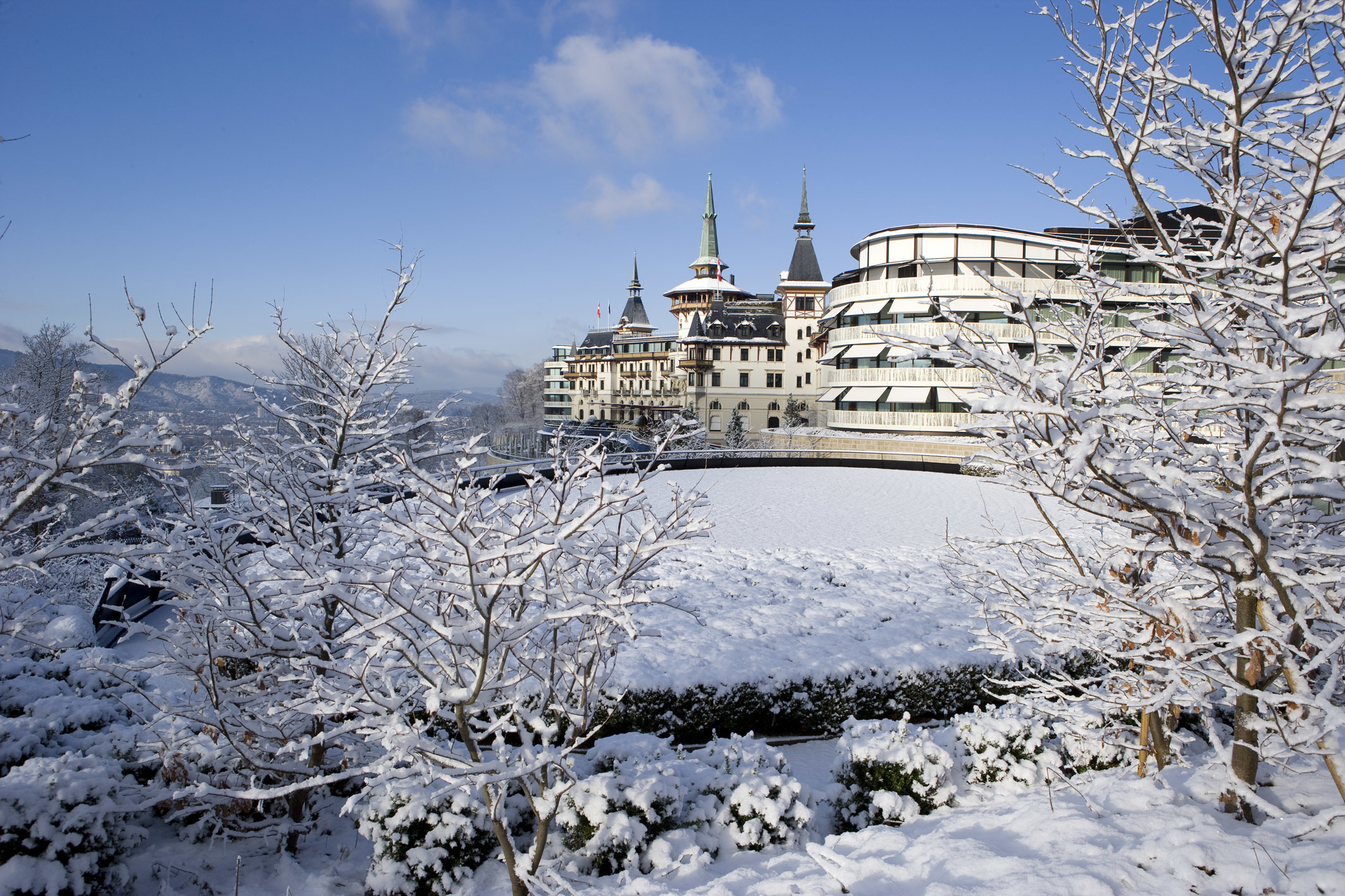 The Dolder Grand is a luxury hotel and spa in Zurich