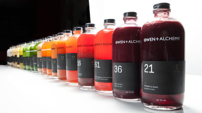 All the juices at Owen + Alchemy