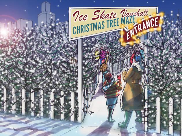 Vauxhall Christmas Tree maze