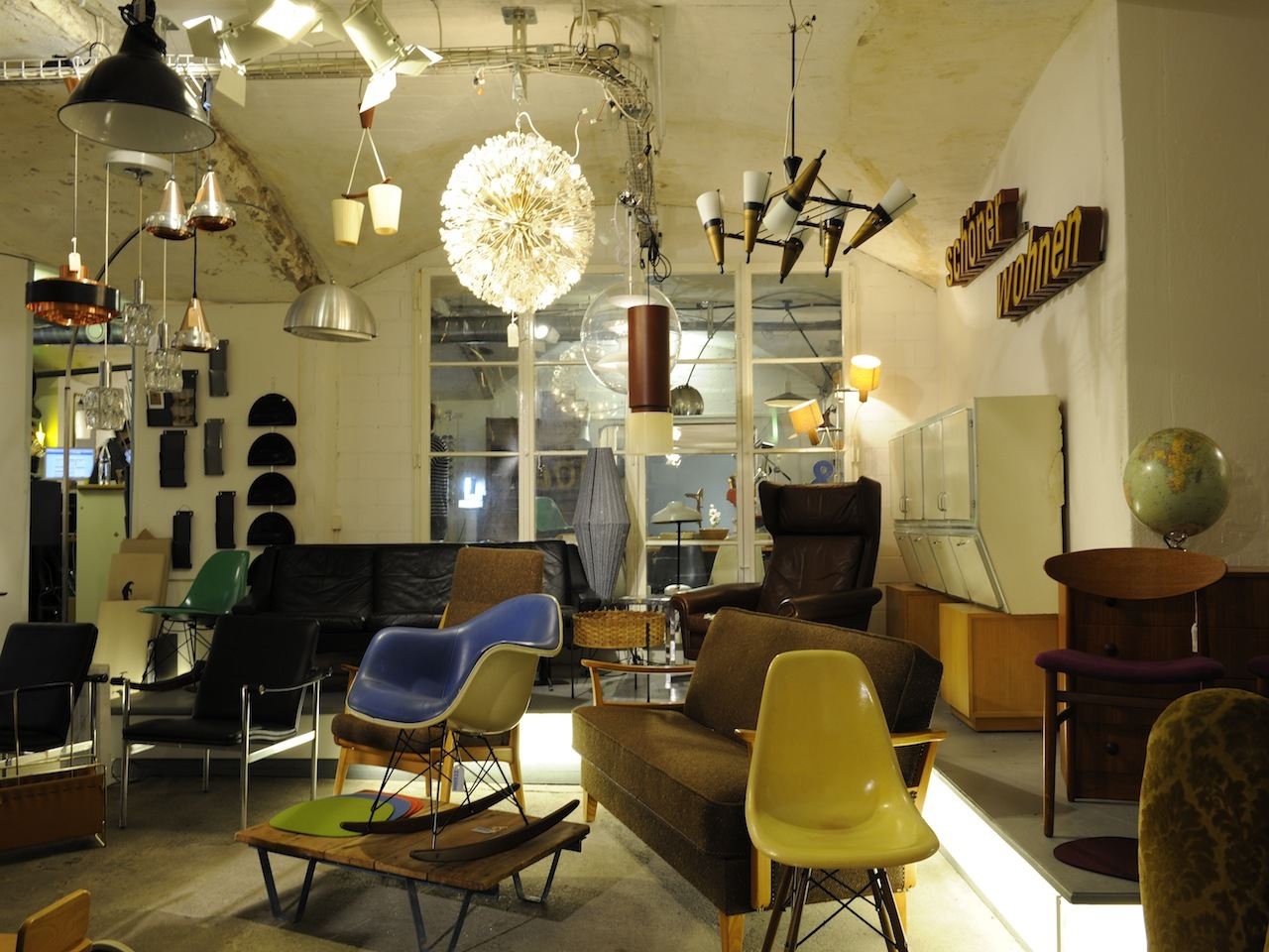 Vintage furniture store in Zurich
