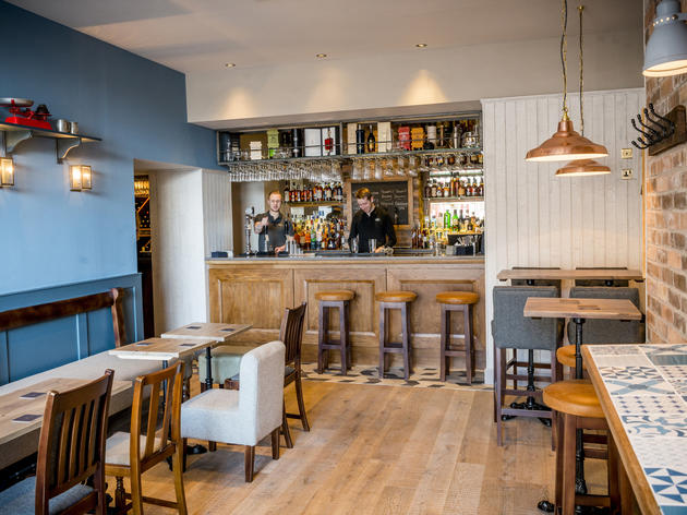 Interior shots of Tom Kitchins new venture The Scran & Scallie