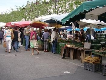 17. Potter through Carouge's age-old market