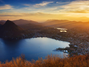 18. See Lugano from on high at Monte Brè