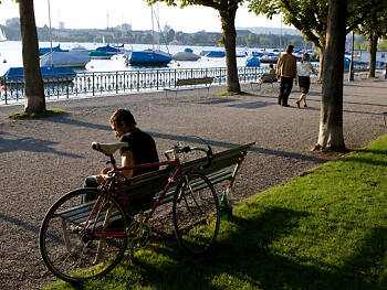 5. Take a walk along Zurich's lakeside promenade