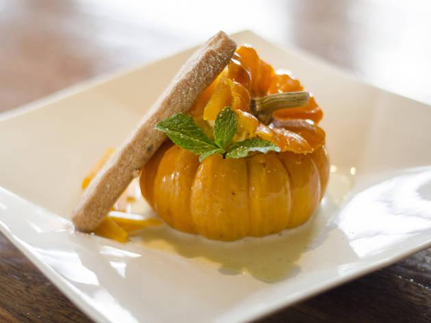 Pumpkin mousse at Sushi Roku