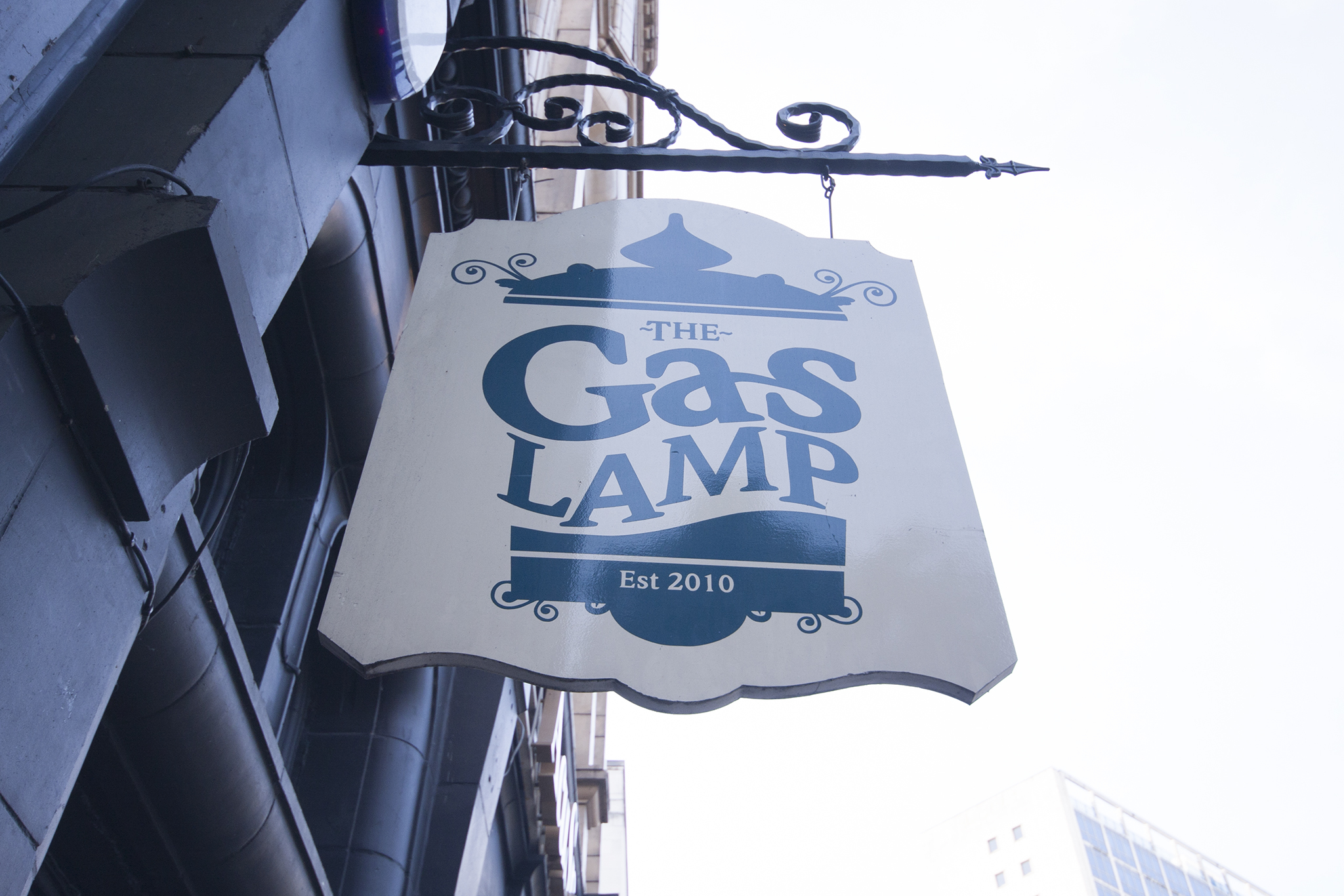 The Gas Lamp, Manchester, Sign