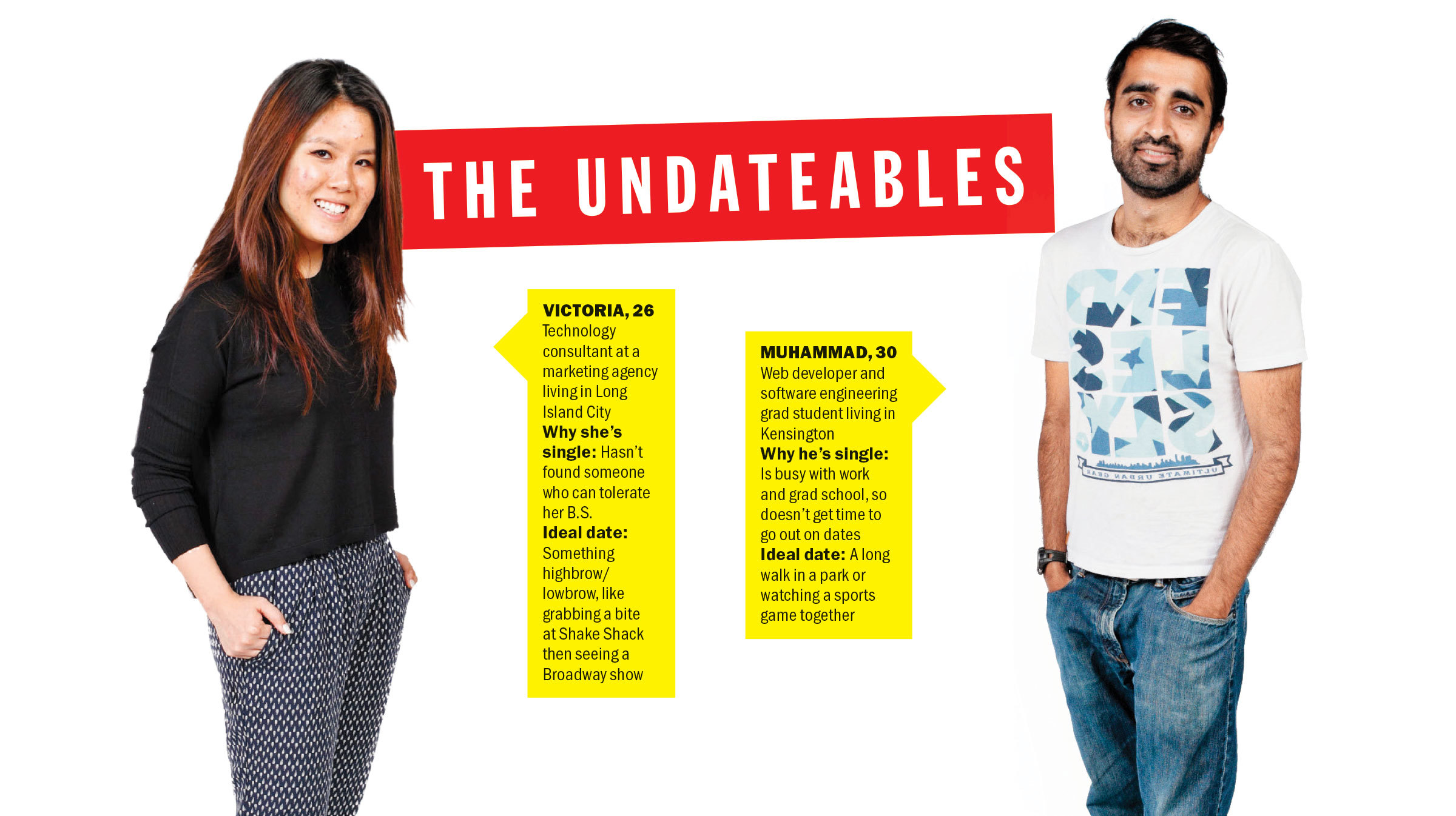 What hookup agency do the undateables use