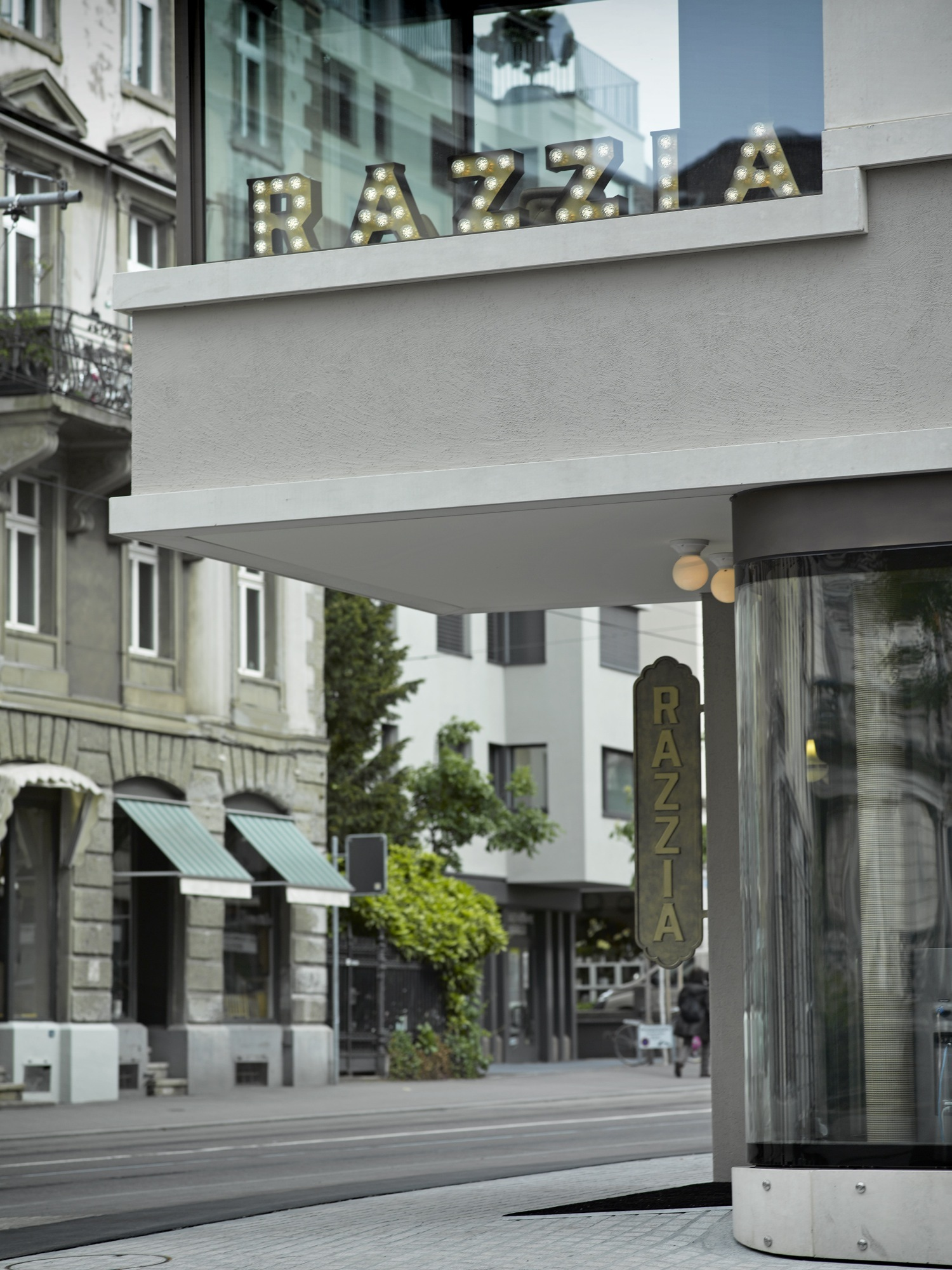 Razzia is a restaurant and bar in Zurich