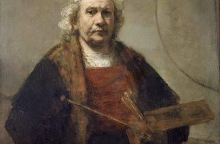Rembrandt van Rijn ('Self Portrait with Two Circles', about 1665-9)