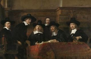 Rembrandt van Rijn ('The Sampling Officials of the Amsterdam Drapers' Guild, known as 'The Syndics'', about 1662)