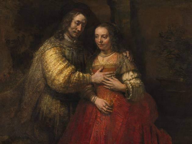 Rembrandt van Rijn ('Portrait of a Couple as Isaac and Rebecca, known as 'The Jewish Bride'', about 1665)