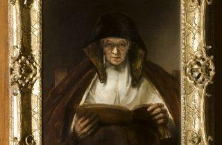 Rembrandt van Rijn ('An Old Woman Reading', 1655)
