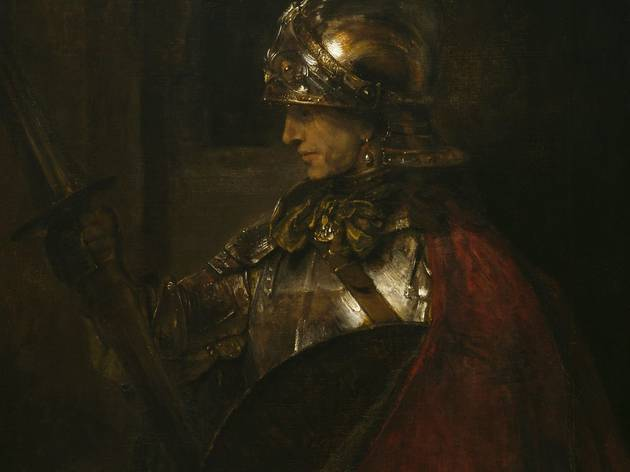 Rembrandt van Rijn ('A Man in Armour (Alexander the Great?)', 1655)