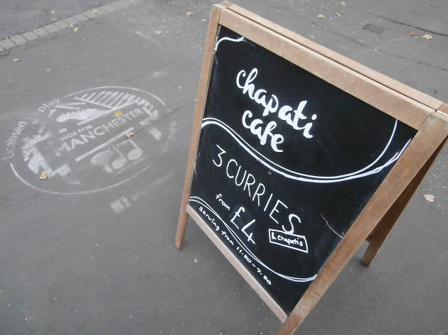 Chapati Cafe, Manchester, Sign