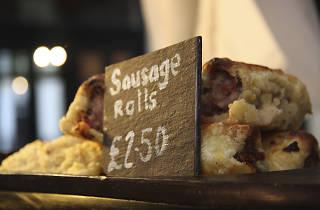 Sausage Rolls in Greenwich Market
