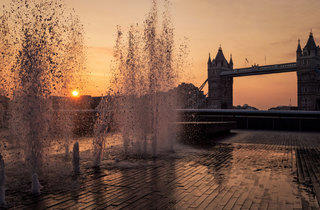 Fountains by Tower Bridge