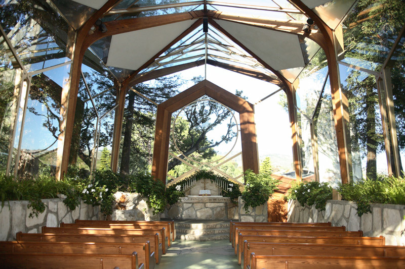 Wayfarers Chapel Wedding Reception