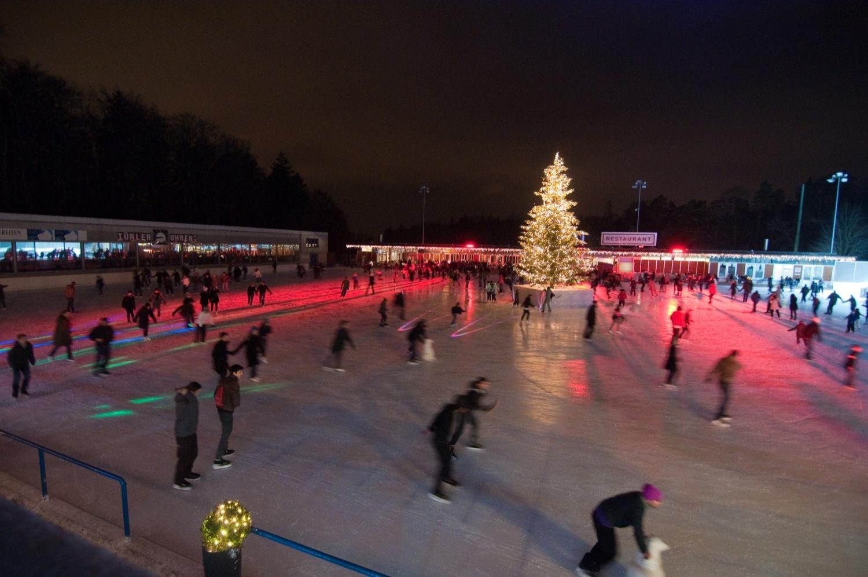 Ice skating, Zurich, Dolder Hotel