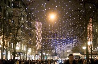 Christmas lights in Zürich