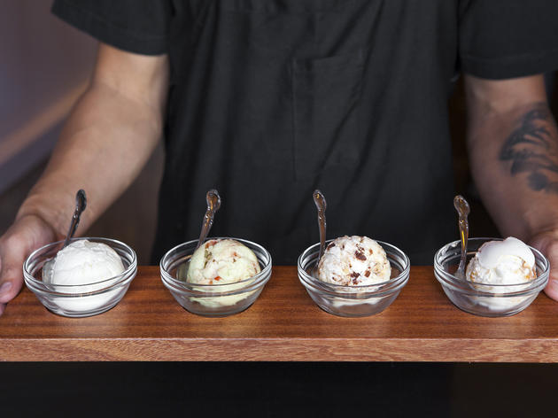 Flight of ice cream at Salt & Straw