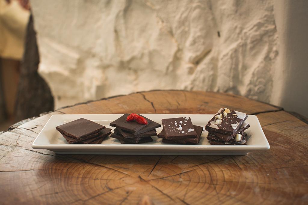 Flight of chocolates at Chocovivo