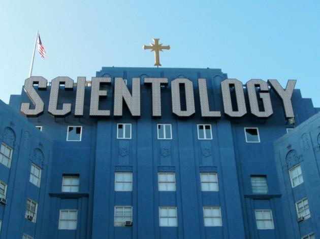 The Scientology Big Blue Building.