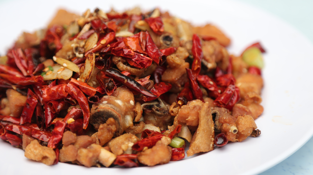Dried chili chicken, Jalar Alor