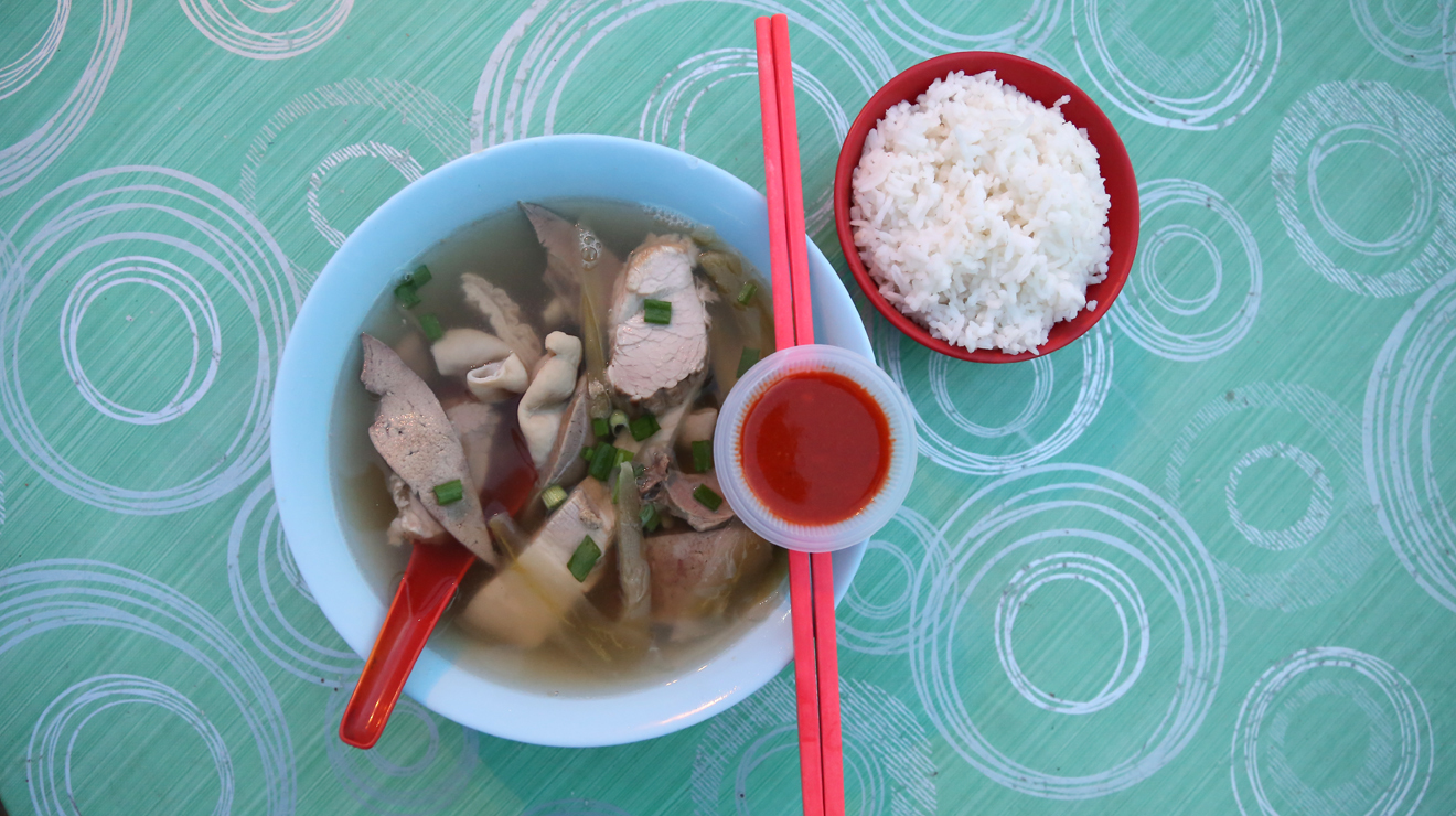 Pork innards soup