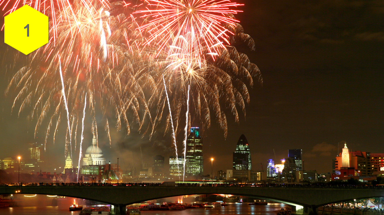 25 stunning photos of fireworks in London