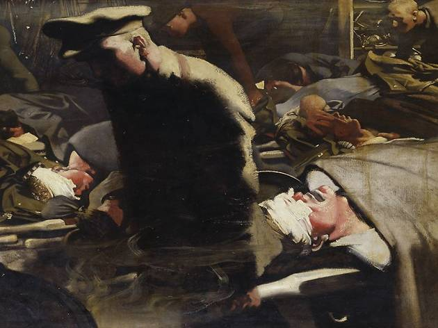 (Eric Kennington (1888-1960), 'Gazés et blessés', 1918 / © Londres, Imperial War Museum)