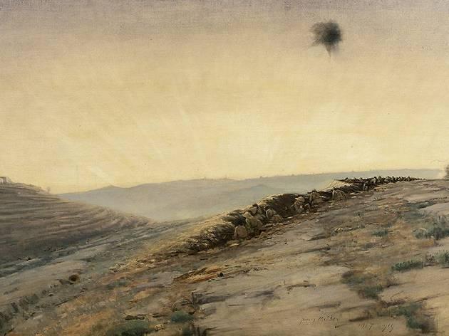 (James McBey (1883-1959), 'Nebi Samwîl : la première vision de Jérusalem', 1917 / © Londres, Imperial War Museum)