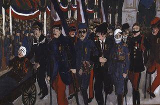 (Jean Galtier-Boissière (1891-1966), 'Fêtes de la Victoire : le défilé des mutilés', 1919 / © Nanterre, Bibliothèque de documentation internationale contemporaine)
