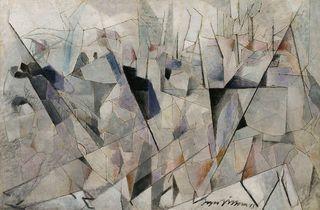 (Jacques Villon (1875-1963), 'Soldats en marche', 1913 / © Centre Pompidou, MNAM-CCI, Dist. RMN-Grand Palais / Georges Meguerditchian / © Adagp, Paris 2014)