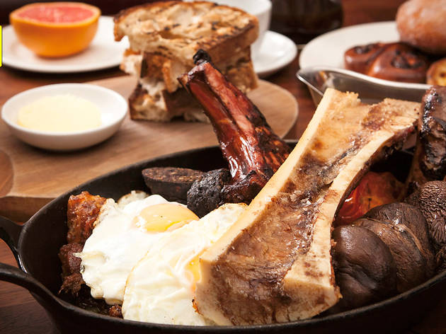Hawksmoor breakfast at Hawksmoor Guildhall
