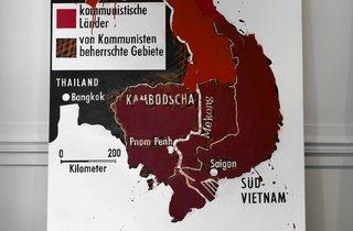 KP Brehmer ('Farbengeographie 7, Lokalisierung von Rotwerten [Colour Geography 7: Location of Shades of Red]', 1972–73)