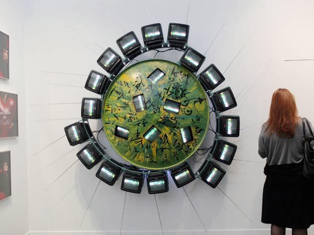 (Galerie Hans Mayer / Nam June Paik / Photo : © TB/ FIAC 2015)