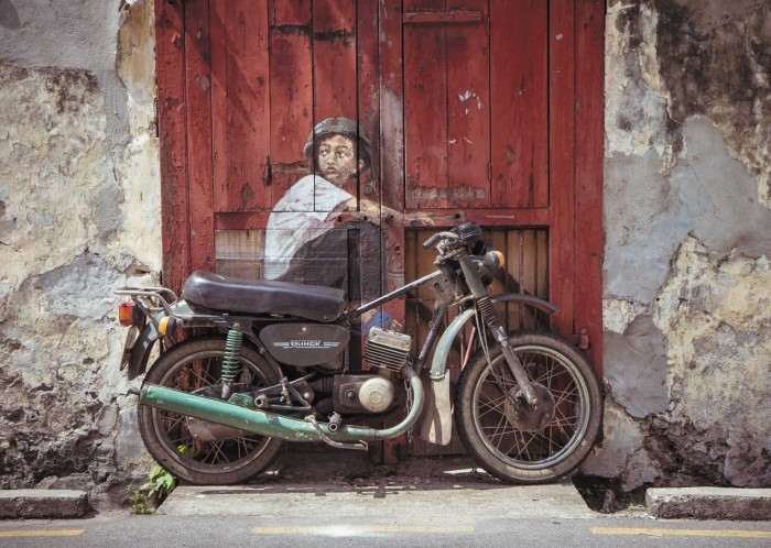 Ernest Zacharevic Boy on a Bike
