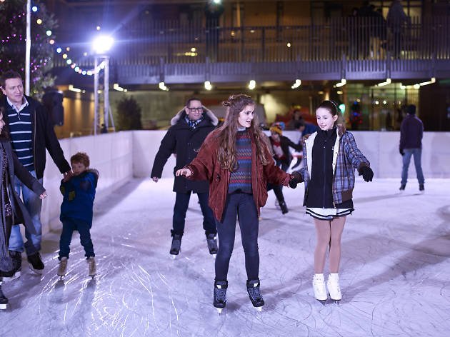Ice skating at JW3