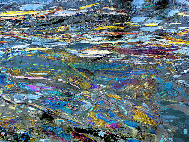 Photographer turns Gowanus slime into abstract art