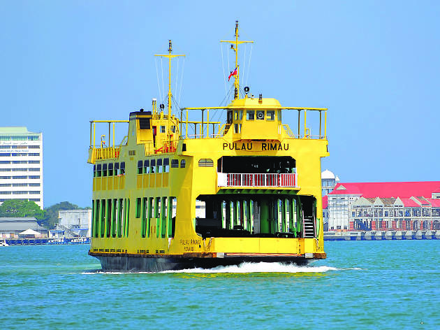 Embark on a short sea voyage via ferry